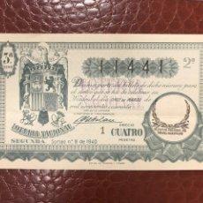 Lotaria Nacional: LOTERIA AÑO 1940 SORTEO 8. Lote 237983870