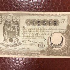 Lotaria Nacional: LOTERIA AÑO 1940 SORTEO 16. Lote 237984320