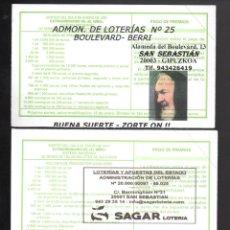 Lotería Nacional: LOTERÍA NACIONAL - ADMINISTRACIONES DE DONOSTIA-SAN SEBASTIÁN NÚMS. 25, 27 Y 28 -. Lote 238308940