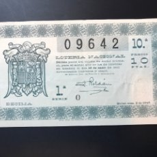 Lotteria Nationale Spagnola: LOTERIA AÑO 1945 SORTEO 2. Lote 238453780