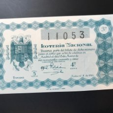 Lotteria Nationale Spagnola: LOTERIA AÑO 1945 SORTEO 8. Lote 238455850