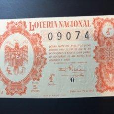 Lotteria Nationale Spagnola: LOTERIA AÑO 1945 SORTEO 26. Lote 238459665