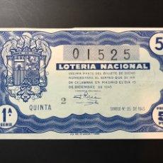 Lotteria Nationale Spagnola: LOTERIA AÑO 1945 SORTEO 35. Lote 238461455