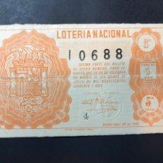 Lotteria Nationale Spagnola: LOTERIA AÑO 1946 SORTEO 20. Lote 238632655