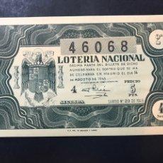 Lotteria Nationale Spagnola: LOTERIA AÑO 1946 SORTEO 23. Lote 238633130