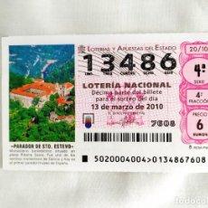 Lotería Nacional: DÉCIMO LOTERÍA 13486. Lote 239988345
