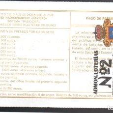Loterie Nationale: LOTERÍA NACIONAL - ADMINISTRACIÓN Nº 2 DE RIVEIRA (A CORUÑA) - AÑO 2020 -. Lote 240130940