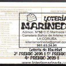 Loterie Nationale: LOTERÍA NACIONAL - ADMINISTRACIÓN Nº 50 DE A CORUÑA - AÑO 2020 -. Lote 240132010