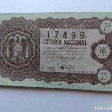 Lotteria Nationale Spagnola: DECIMO DE LOTERIA NACIONAL DEL AÑO 1954, SORTEO 30. Lote 241312300