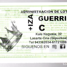 Loterie Nationale: LOTERÍA NACIONAL - ADMINISTRACIÓN DE LASARTE-ORIA (GIPÚZKOA) - 2020 -. Lote 241926320