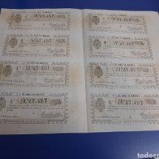 Lotería Nacional: LOTERIA BILLETE COMPLETO 14 DE ABRIL 1860. Lote 242384665