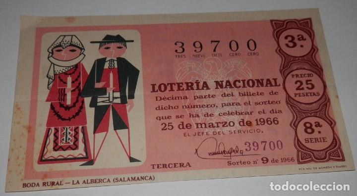DECIMO LOTERIA DEL AÑO DE 1966 - SORTEO Nº 9 DE 1966 (Coleccionismo - Lotería Nacional)