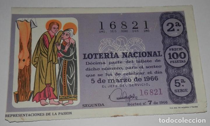 DECIMO LOTERIA DEL AÑO DE 1966 - SORTEO Nº 7 DE 1966 (Coleccionismo - Lotería Nacional)