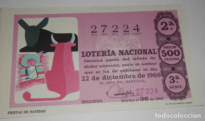 DECIMO LOTERIA DEL AÑO DE 1966 - SORTEO Nº 36 DE 1966 (Coleccionismo - Lotería Nacional)