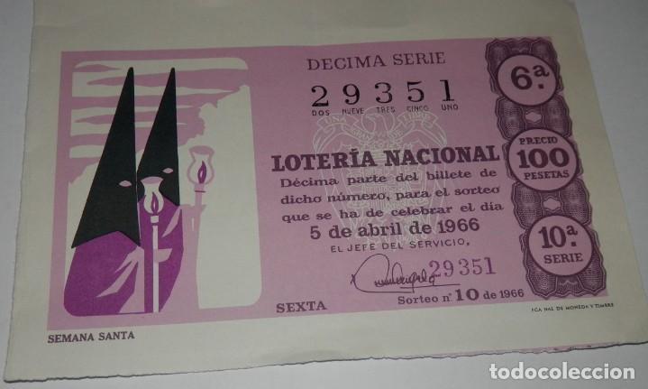 DECIMO LOTERIA DEL AÑO DE 1966 - SORTEO Nº 10 DE 1966 (Coleccionismo - Lotería Nacional)