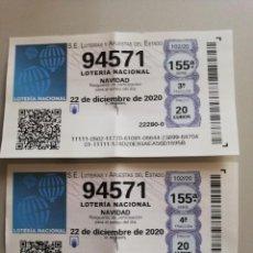 Lotería Nacional: DECIMOS LOTERIA DE NAVIDAD 2020. Lote 242984420