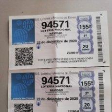 Lotería Nacional: DECIMOS LOTERIA DE NAVIDAD 2020. Lote 242984500