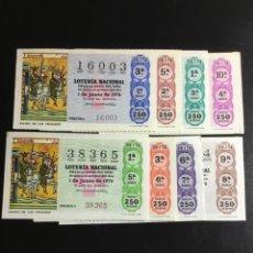 Lotería Nacional: DECIMO LOTERÍA 1974 SORTEO 20/74 CRUZ ROJA (TODAS LAS SERIES) 8. Lote 243909310