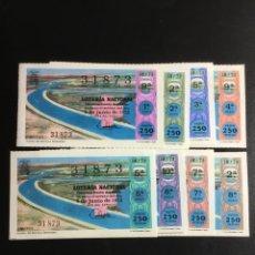 Lotería Nacional: DECIMO LOTERÍA 1973 SORTEO 18/73 CRUZ ROJA (TODAS LAS SERIES) 8. Lote 243909380