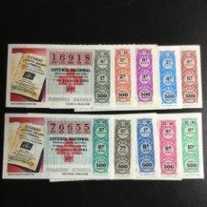 Lotería Nacional: DECIMO LOTERÍA 1980 SORTEO 22/80 CRUZ ROJA (TODAS LAS SERIES) 10. Lote 243909465