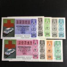 Lotería Nacional: DECIMO LOTERÍA 1979 SORTEO 21/79 CRUZ ROJA (TODAS LAS SERIES) 9. Lote 243909545