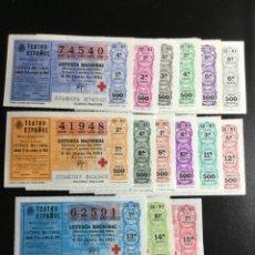 Lotería Nacional: DECIMO LOTERÍA 1981 SORTEO 22/81 CRUZ ROJA (TODAS LAS SERIES) 15. Lote 243909685