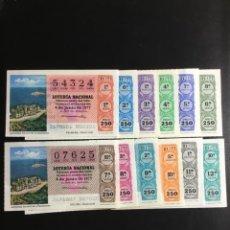 Lotería Nacional: DECIMO LOTERÍA 1977 SORTEO 21/77 CRUZ ROJA (TODAS LAS SERIES) 12. Lote 243910605