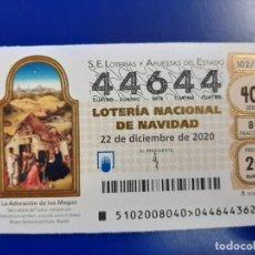 Lotaria Nacional: LOTERIA NACIONAL CAPICUA 44644. Lote 244438035