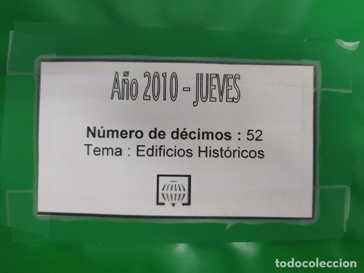 Lotería Nacional: LOTERIA NACIONAL DEL JUEVES DEL AÑO 2010 - COMPLETO - 52 DECIMOS - Foto 2 - 244474560