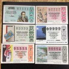 Lotería Nacional: LOTE 6 DECIMOS LOTERIA 4 CIFRAS IGUALES. Lote 244476505
