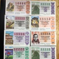 Lotería Nacional: LOTE 10 DECIMOS LOTERIA 4 CIFRAS IGUALES. Lote 244478245