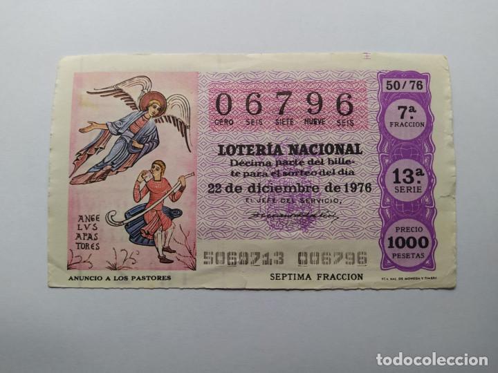1 DECIMO DE LOTERIA NACIONAL DEL AÑO 1976 SORTEO 50 (Coleccionismo - Lotería Nacional)