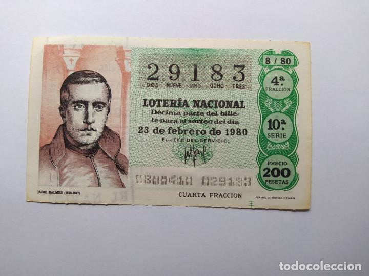 1 DECIMO DE LOTERIA NACIONAL DEL AÑO 1980 SORTEO 8 (Coleccionismo - Lotería Nacional)
