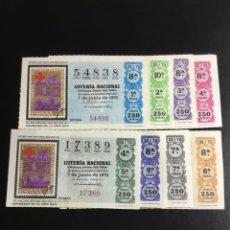 Lotería Nacional: DECIMO LOTERÍA 1975 SORTEO 22/75 CRUZ ROJA (TODAS LAS SERIES) 8. Lote 244614870