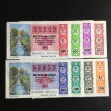 Lotería Nacional: DECIMO LOTERÍA 1978 SORTEO 21/78 CRUZ ROJA (TODAS LAS SERIES) 8. Lote 244616835