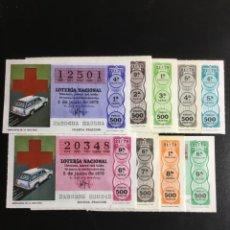 Lotería Nacional: DECIMO LOTERÍA 1979 SORTEO 21/79 CRUZ ROJA (TODAS LAS SERIES) 9. Lote 244617070