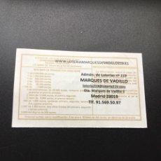 Lotería Nacional: DECIMO LOTERÍA 2020 SORTEO 102/20 ADMINISTRACION MADRID 219. Lote 244635380
