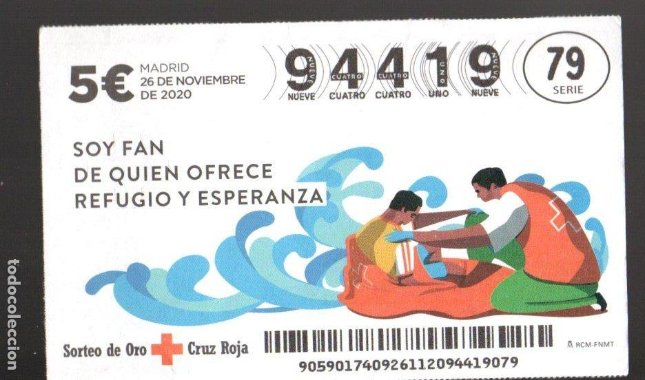 SORTEO ORO DE LA CRUZ ROJA - 26/11/20 - SOY FAN DE QUIEN OFRECE REFUGIO Y ESPERANZA - (Coleccionismo - Lotería Nacional)
