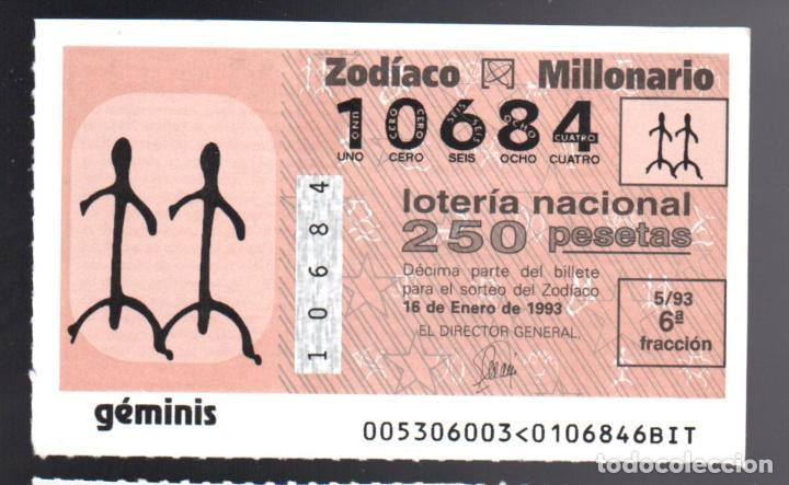 LOTERIA NACIONAL - 18 DE ENERO DE 1993 - SORTEO 5 - SORTEO DEL ZODIACO: GÉMINIS - (Coleccionismo - Lotería Nacional)