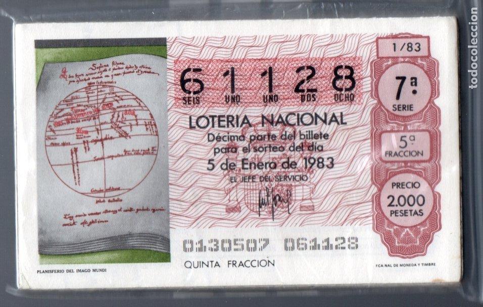 LOTERIA NACIONAL - AÑO 1983 COMPLETO - 50 DÉCIMOS - (Coleccionismo - Lotería Nacional)