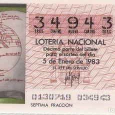 Lotería Nacional: DECIMO CAPICUA EL DE LA FOTO. Lote 245109945