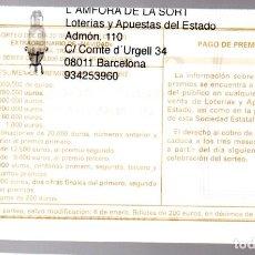 Lotería Nacional: LOTERIA NACIONAL - ADMINISTRACIÓN Nº 110 DE BARCELONA - SORTEO 102/20 -. Lote 245290890