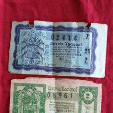 Lotería Nacional: DOS DECIMOS DE LOTERIA NACIONAL 1956. Lote 245399305