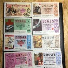 Lotería Nacional: LOTE 10 DECIMOS LOTERÍA CRUZ ROJA AÑOS 1971 A 2014. Lote 245485680