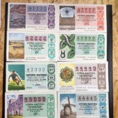 Lotería Nacional: LOTE 9 DECIMOS LOTERIA 4 CIFRAS IGUALES. Lote 245485875