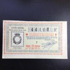 Lotería Nacional: DECIMO LOTERÍA 1936 SORTEO 29/36 REFERENCIA ANTIGUO. Lote 245493800