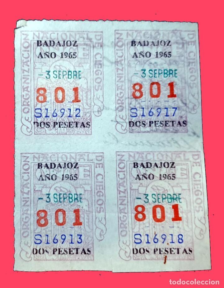 CUPONES DE LA ONCE - 3 DE SEPIEMRE DE 1965 - Nº 801 (Coleccionismo - Lotería Nacional)