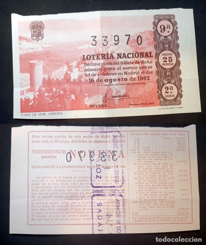 LOTERIA NACIONAL - 16 DE AGOSTO DE 1962 - Nº 33970 (Coleccionismo - Lotería Nacional)