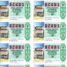 Lotería Nacional: BILLETE DE LA LOTERIA NACIONAL - 8 DE MAYO DE 1982 - SORTEO 17 - TEMA: MUNDIAL 82 -. Lote 246342065