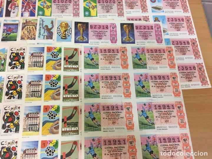 Lotería Nacional: LOTE DE 44 HOJAS DE DÉCIMOS DE LA LOTERÍA NACIONAL 1982 - TODAS DEL MUNDIAL DE FÚTBOL ESPAÑA 82 - Foto 5 - 248816090